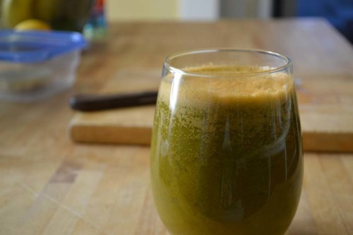 cup of spinach and carrot